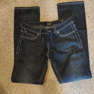 Black distressed MEK Denim Jeans